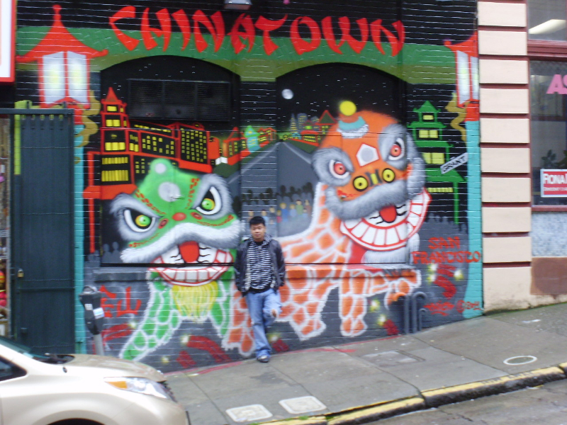 A wall in China Town